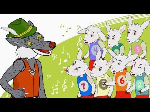 Бүре һәм җиде кәҗә бәтие - Мультфильм Волк и семеро козлят  на татарском языке
