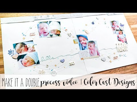 make it a double series | process video | hello my heart | color cast designs