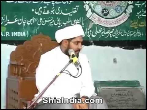 Maulana Ali Hyder Farishta Addressing a Majlis at Bargah-e-masoomeen 2014