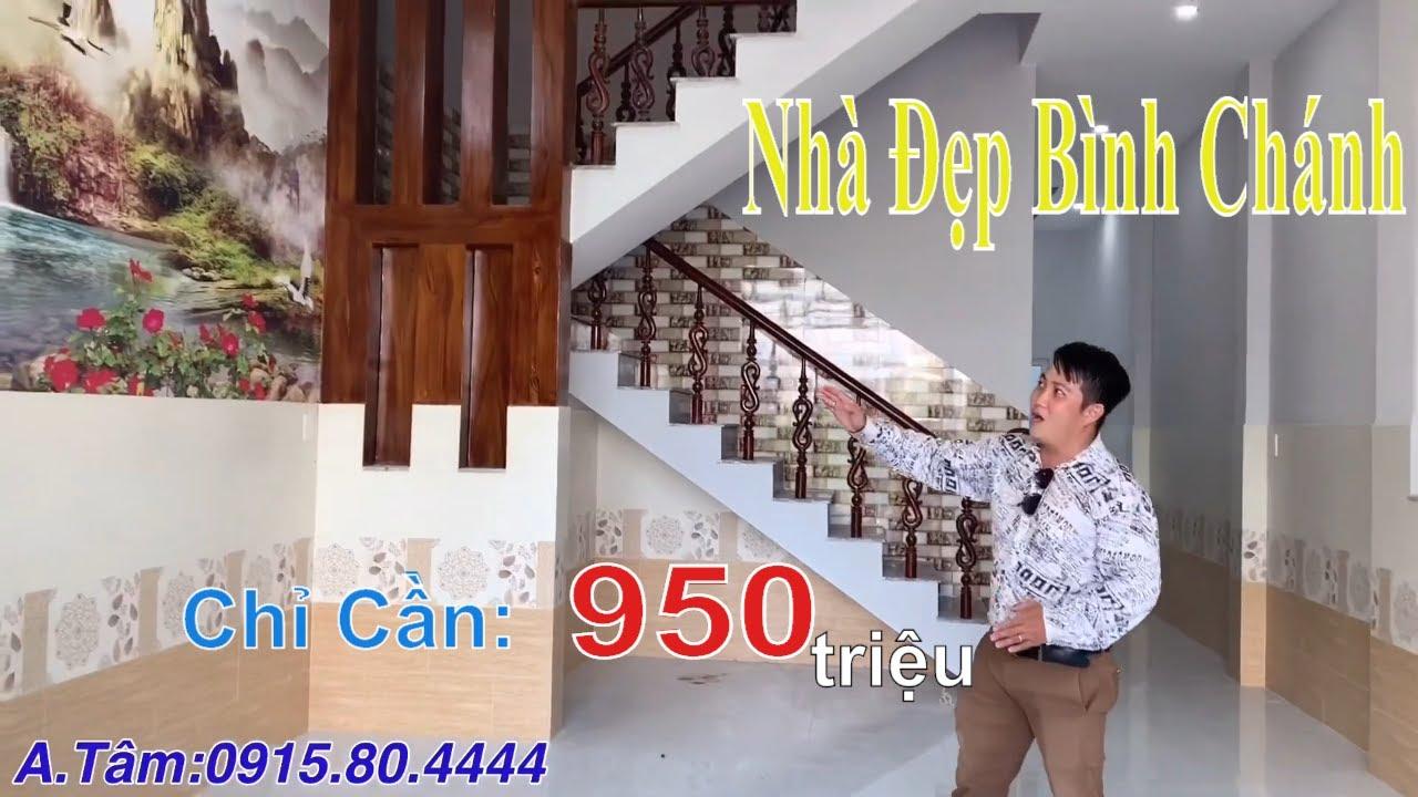 Nhà Đất Bình Chánh – Nhà Phố Siêu Đẹp Kdc Tân Phước, Đường Ql50 Giá 950 Triệu – Sổ Hồng Riêng