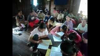 Based Karenni Literacy Training From Inside Karenni state Daw Thar Hay village. First