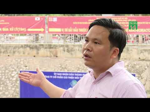 Nước sông Tô Lịch đã trong hơn sau 1 tháng làm sạch  | VTC14