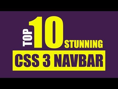 Top 10 Stunning CSS 3 Effects For Navigation Bar