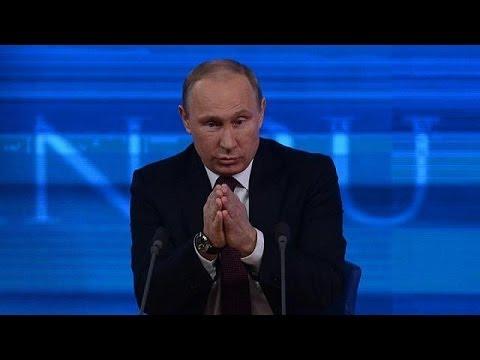 """Poutine à nu devant la presse : """"l'Ukraine est un pays frère"""""""