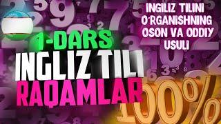 ingiliz tili - raqamlar (numbers)
