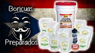 Pailas Augason Farm 30 Day Food Storage - Boricuas Preparados