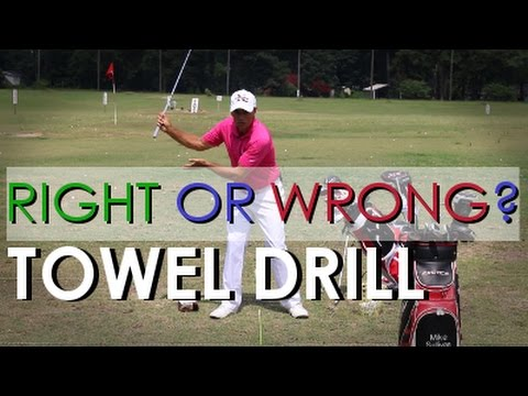 Golf Towel Drill, Should the Right Arm Fold or Float During Backswing