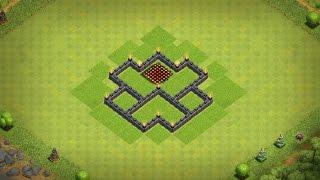 Town Hall 4 (TH4) Farming Base/Trophy Base - Best Farming Base