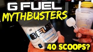 NEW SERIES - G-FUEL MYTHBUSTERS! - IS GAMMA SCAMMING US? - 40 SCOOPS IN A TUB?