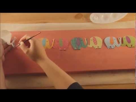 Perchero decorado con decoupage youtube for Como hacer percheros de madera de pared