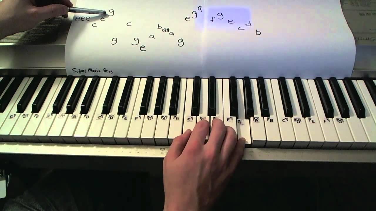 Super Mario Bros- Piano Lesson (SUPER EASY)