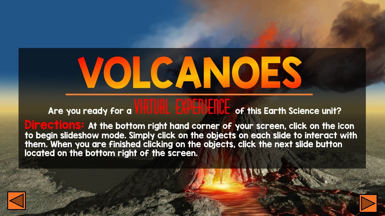 volcanoes interactive powerpoint - youtube, Modern powerpoint