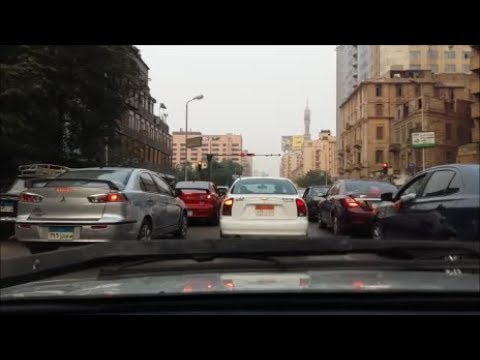 Cairo Driving Dash Cam: Video(6): October Bridge & Ramsis