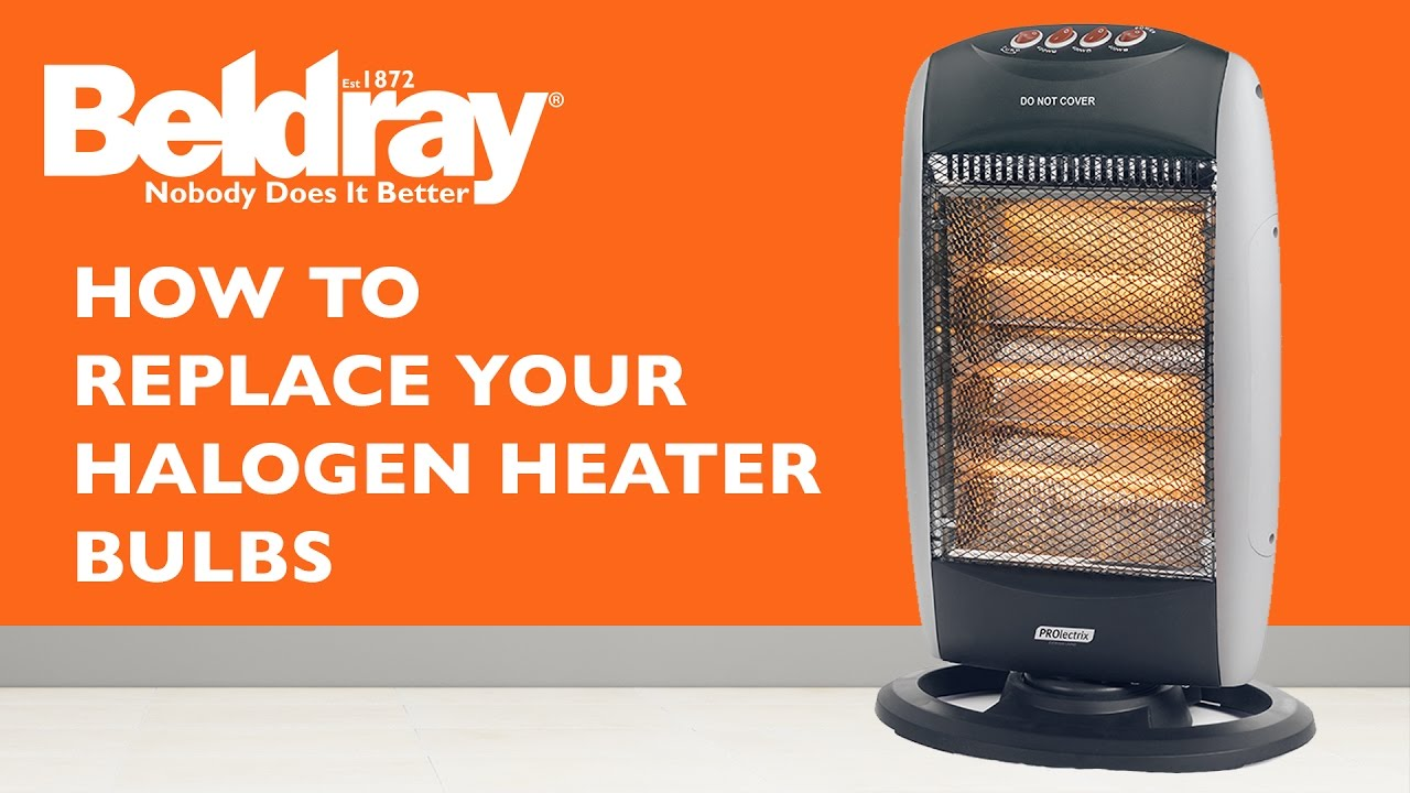 Beldray Halogen Heater Bulb Replacement Guide Youtube