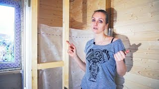 видео Устройство перегородки в деревянном доме