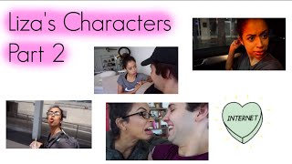 Liza's characters in david dobriks vlogs part 2