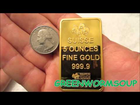 5 OUNCE PAMP SUISSE LADY FORTUNA GOLD BAR - APMEX