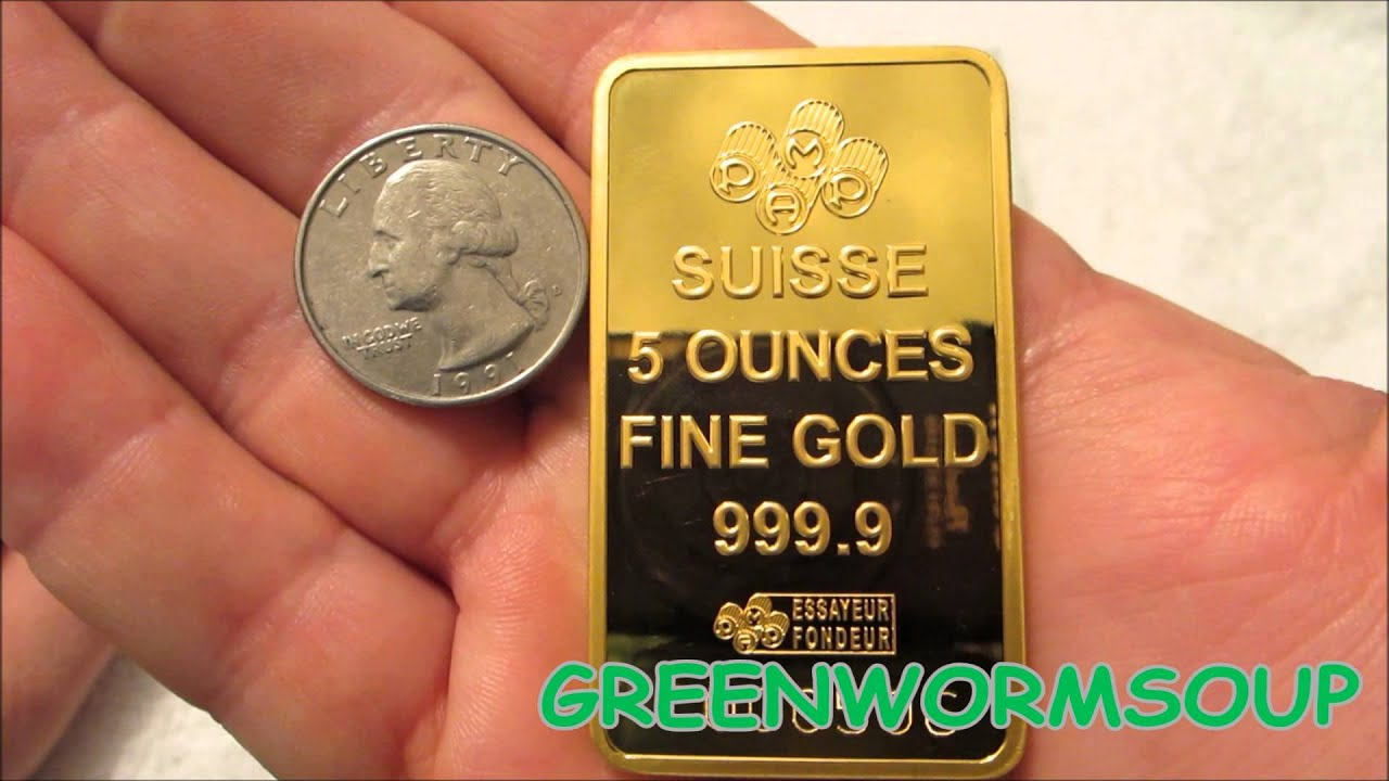 5 Ounce Pamp Suisse Lady Fortuna Gold Bar Apmex Youtube