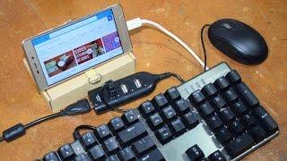transformando Celular em mini PC! Cabo Y OTG caseiro!