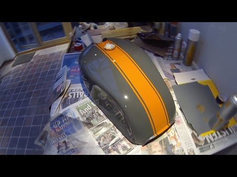 Cafe Racer Build Part 2, Fuel Tank Painting 78 Suzuki GS550