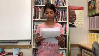 Letters About Literature 2019 Level 1 Winner: Asha Blewett