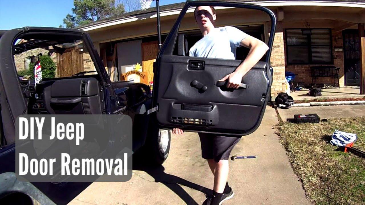 Diy Jeep Door Removal For Seized Doors Youtube