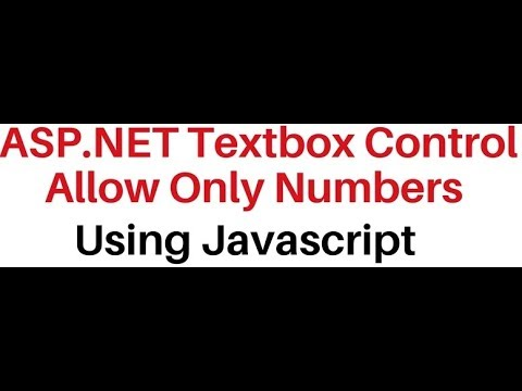 javascript client side asp net textbox control allow numbers only
