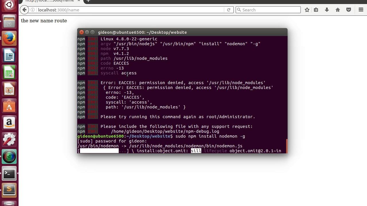 npm install nodemon