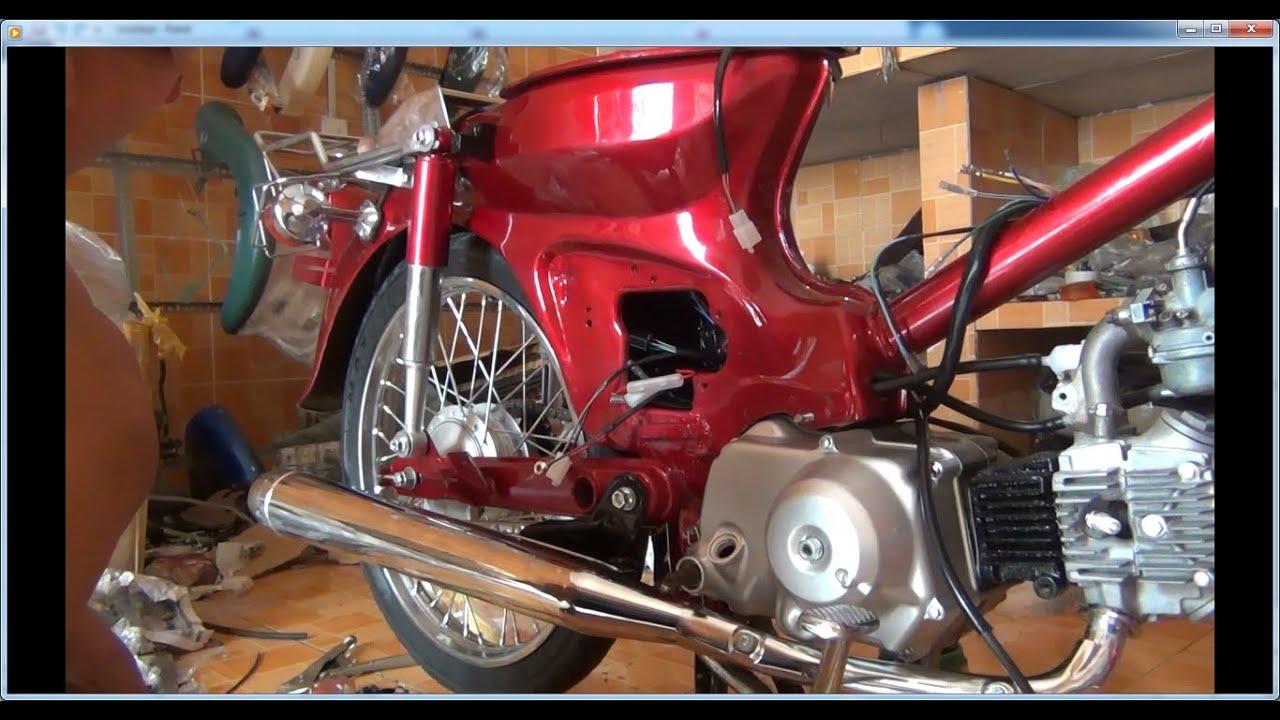 Dọn nguyên xe Honda Cub 81 50cc đời đầu Honda C50 1981 || Restoration Full clip