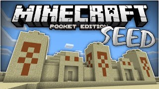 massive desert temple at spawn epic mcpe 0 13 0 temple seed minecraft pe pocket edition