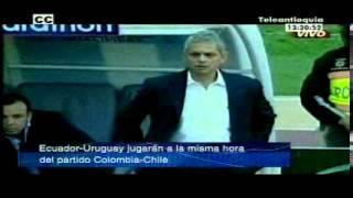 Ecuador-Uruguay jugarán a la misma hora del partido Colombia-Chile.