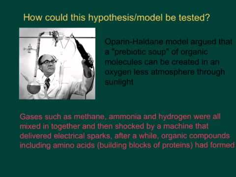 Oparin Haldane model