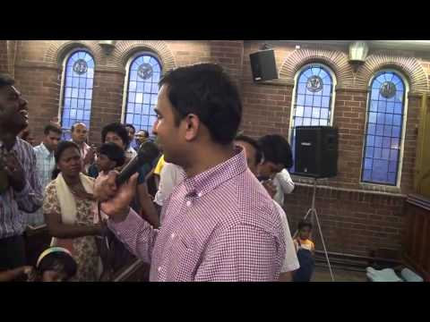 Br Sajith Joseph Ministering-CREATIVE MIRACLE AT LIVERPOOL-Jesus heals a girl who lost her eyes