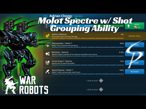 War Robots - Spectre 4x Mk1/12 Molots with Pilot Shot Grouping Ability (no commentary)