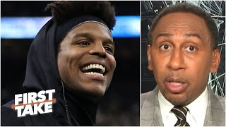 Stephen A. Reacts To A Radio Host Telling Cam Newton Not To Showboat With The Patriots | First Take