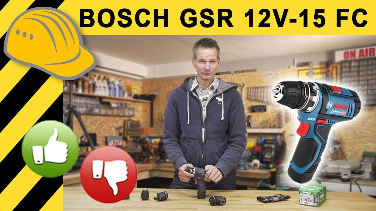 bester 12v akkuschrauber von bosch gsr 12v 15 fc. Black Bedroom Furniture Sets. Home Design Ideas