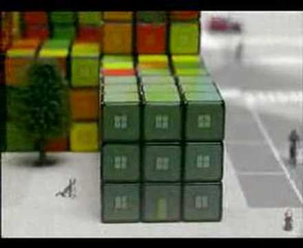 David Calvo on a Rubik TV Commercial in Portugal