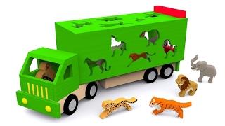 Мультики про машинки. Учим диких животных. Развивающий мультфильм для детей