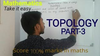 Topological space /Mathematics /M.A /M.Sc