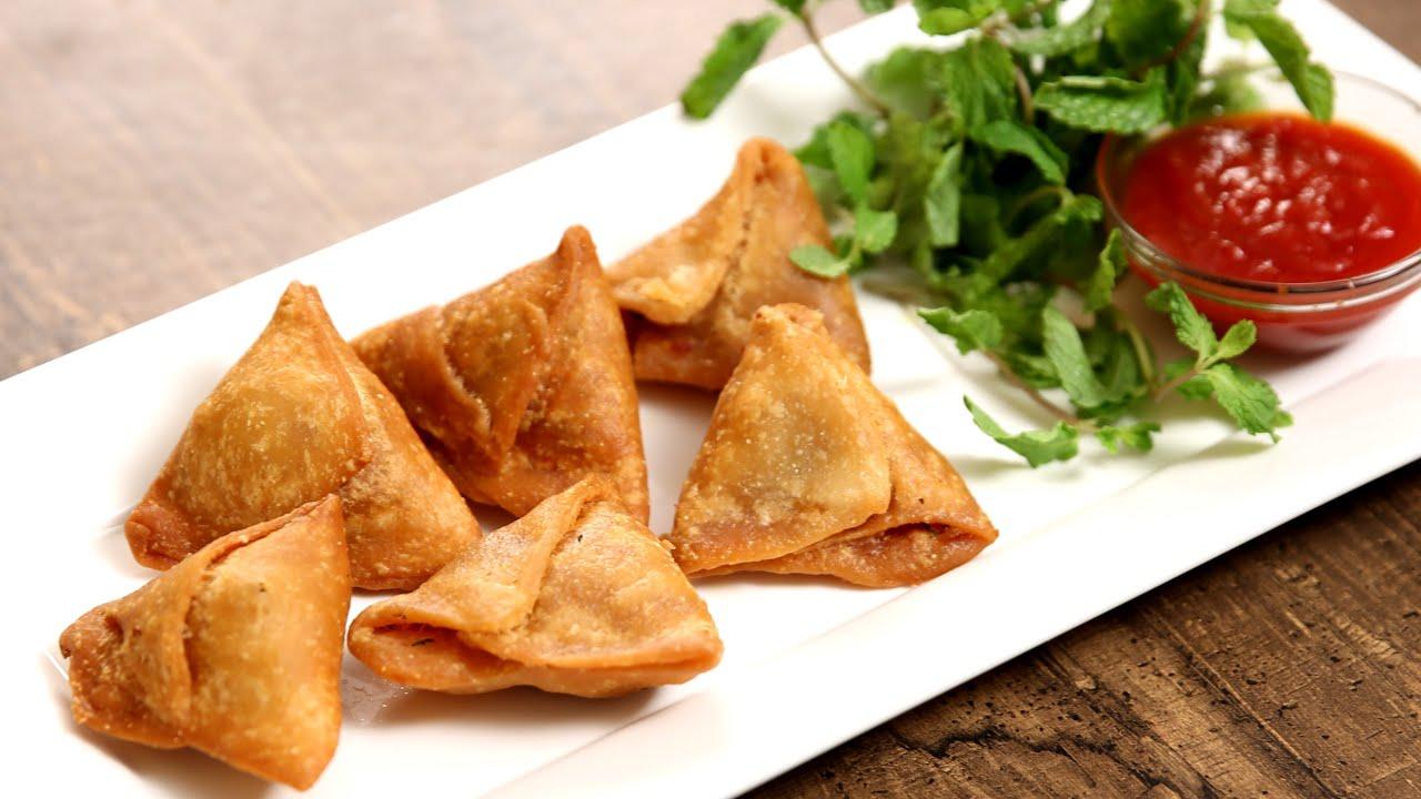 Keema Samosa Recipe | Minced Meat Samosa | The Bombay Chef – Varun Inamdar - YouTube