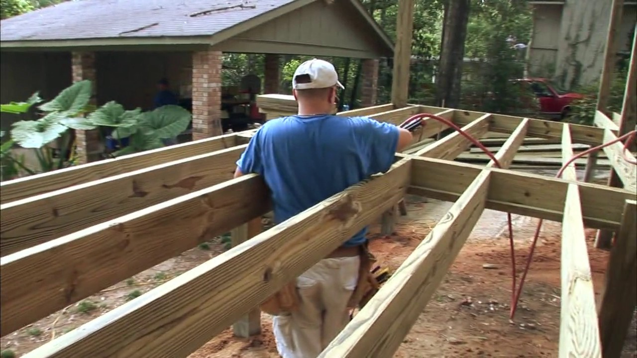 Perfect This Is How You Build A Wooden Deck On Your House