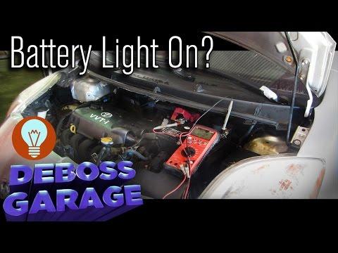 Car Battery Light On In Dashboard Toyota Yaris