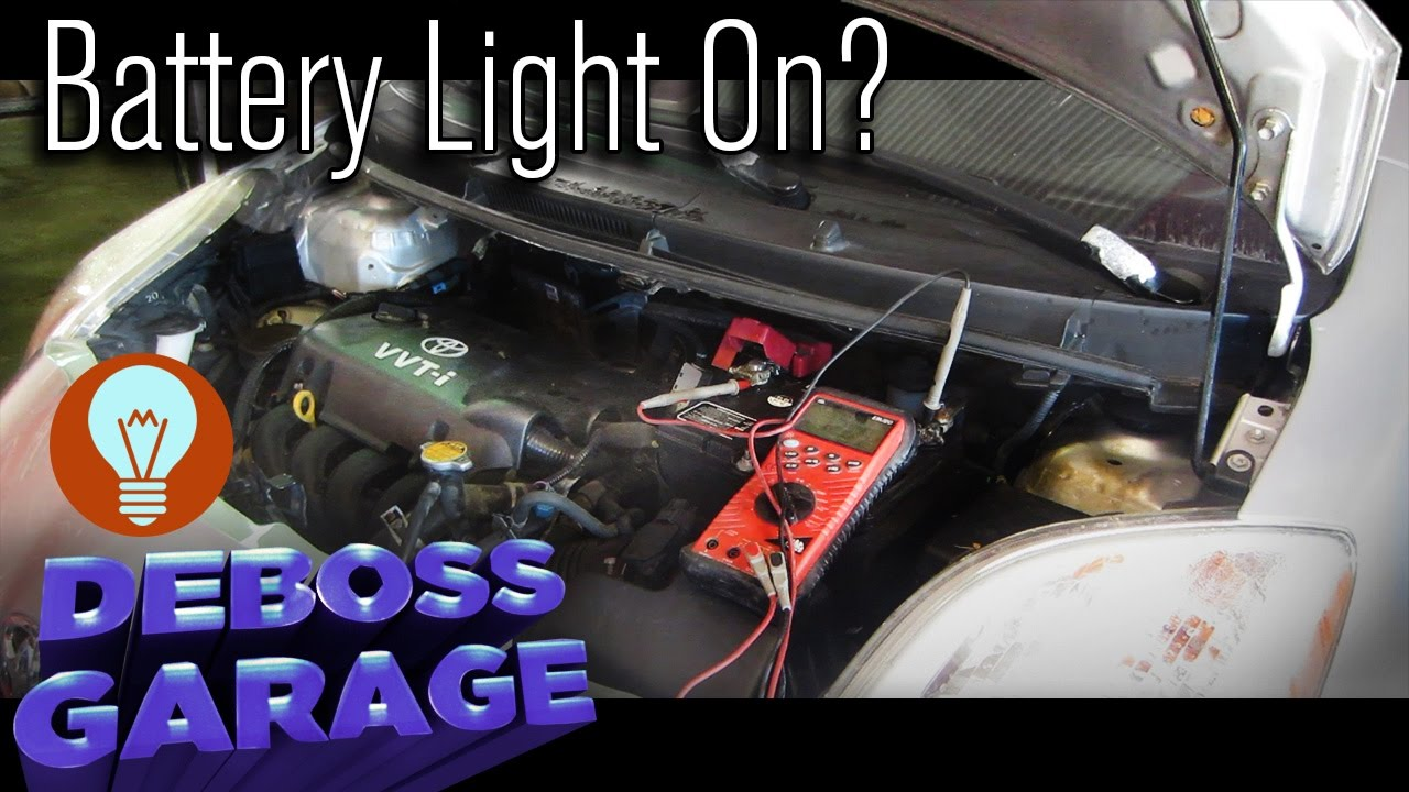 Car Battery Light On In Dashboard Toyota Yaris  YouTube