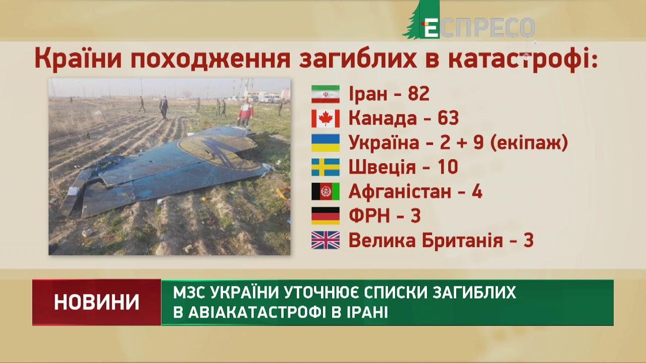 Україна й Іран координуватимуть дії слідчих груп щодо авіакатастрофи МАУ - МЗС