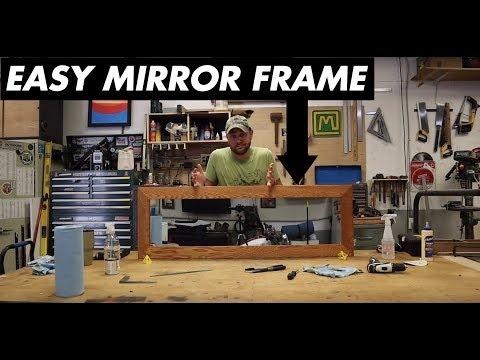 DIY Mirror Frame // Woodworking