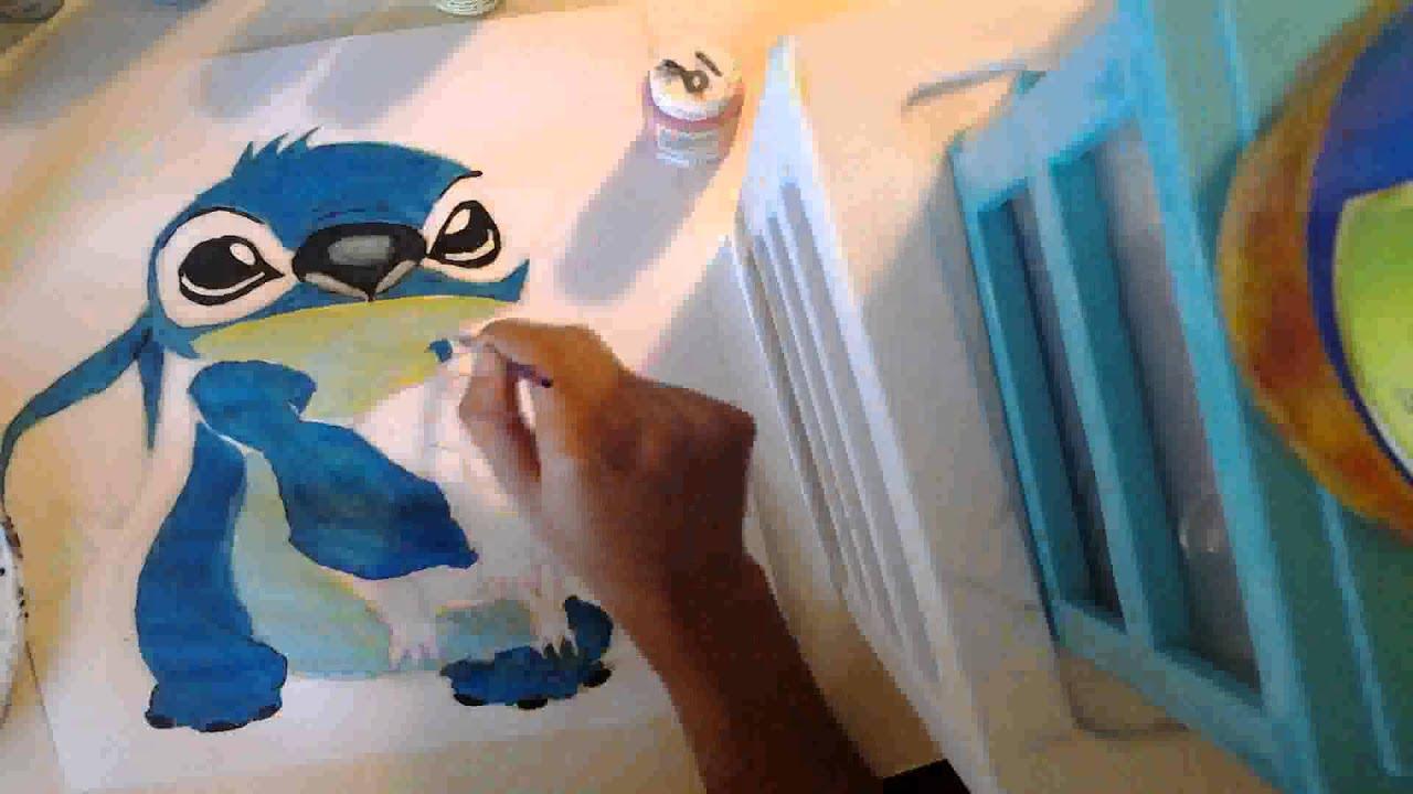 24d6695c3d28d3 Disney stitch painting - YouTube