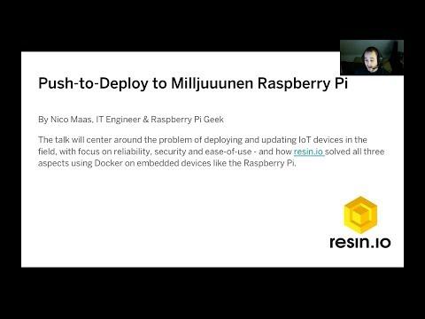 Push-to-Deploy to Milljuuunen Raspberry Pi by Nico Maas @ Rhein-Neckar Docker & Kubernetes Meetup