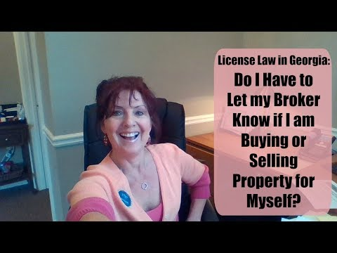 Do I Have to Let My Broker Know if I Buy/Sell/Lease Real Estate?