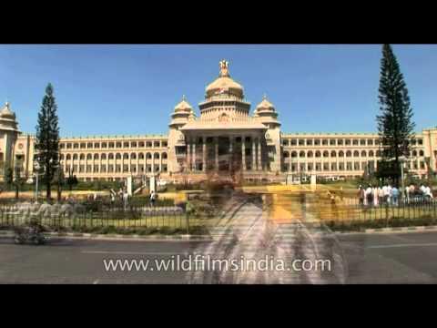 The largest Indian state Legislative building - Vidhana Soudha, Bangalore