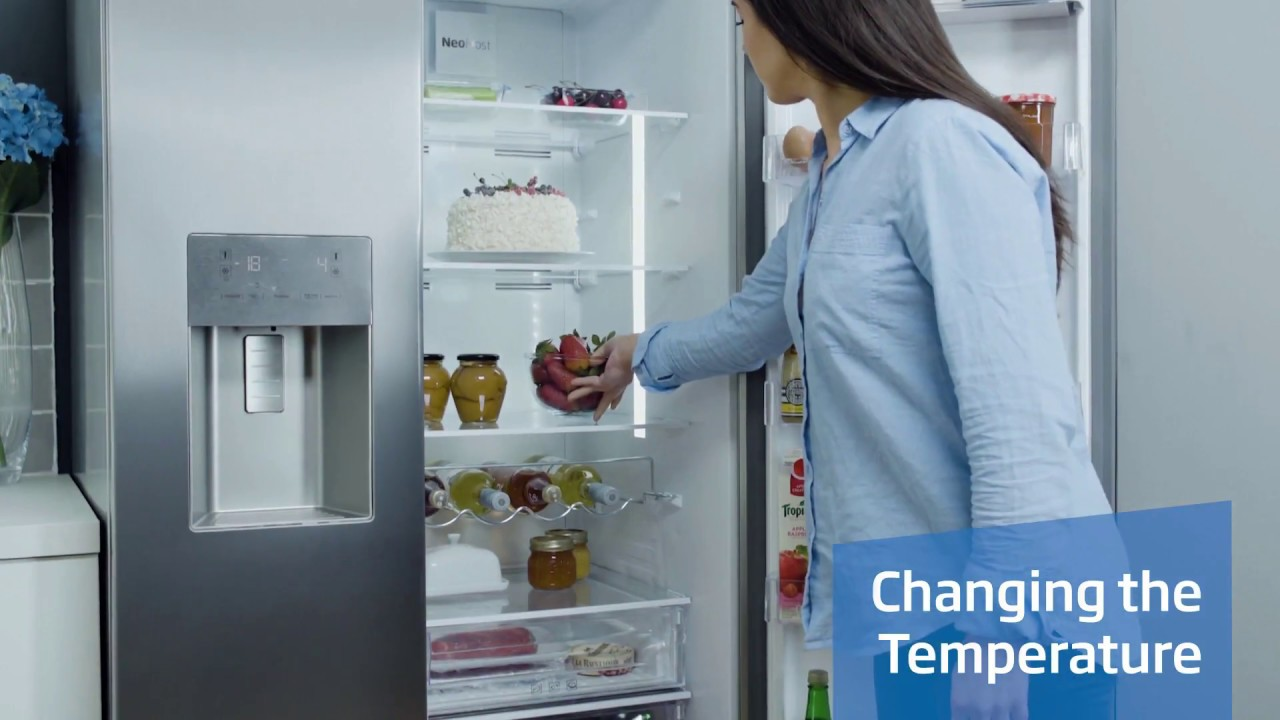 How to use the electronic display on your american style Beko fridge
